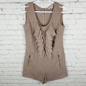 PAPAYA | sleeveless back zip shorts romper